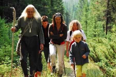 Wanderung mit Canadian Natives