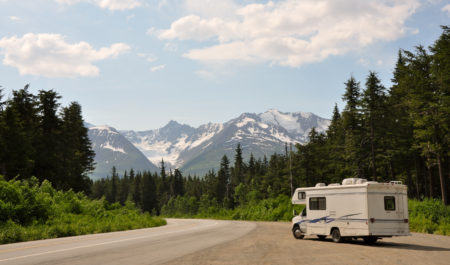 Motorhome in den Rockies