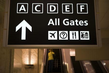 Flughafenschild