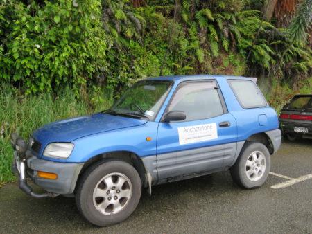 Unser Mietwagen auf Stewart Island