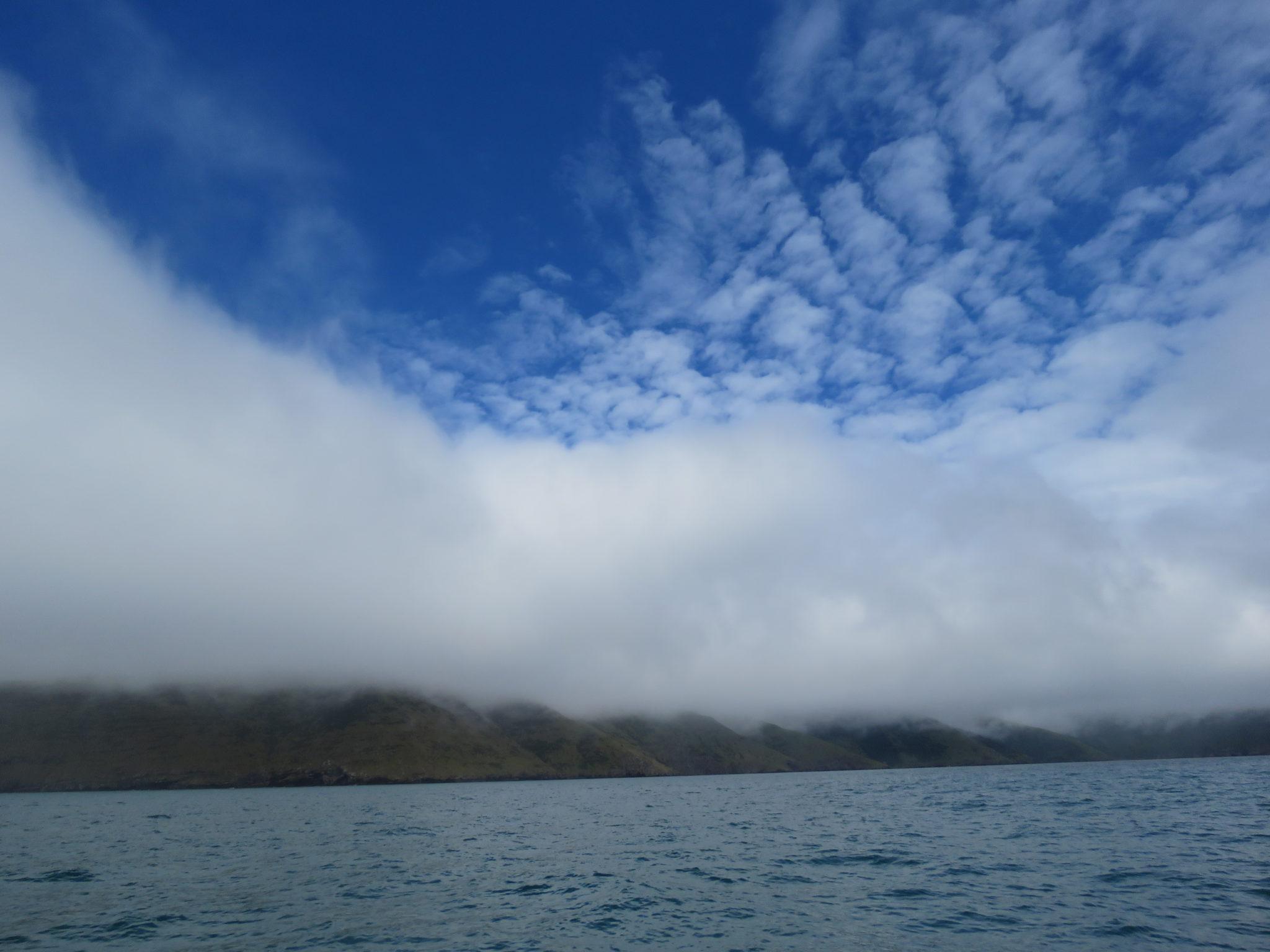 Wolkenspiel bei Akaroa