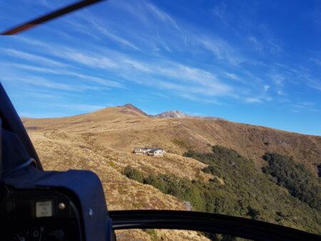 Helikopter zur Luxmor Hut