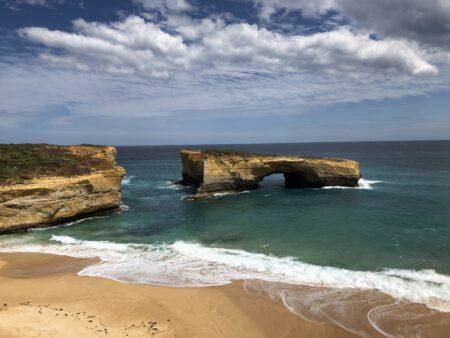 Great Ocean Road Felsen teilen sich
