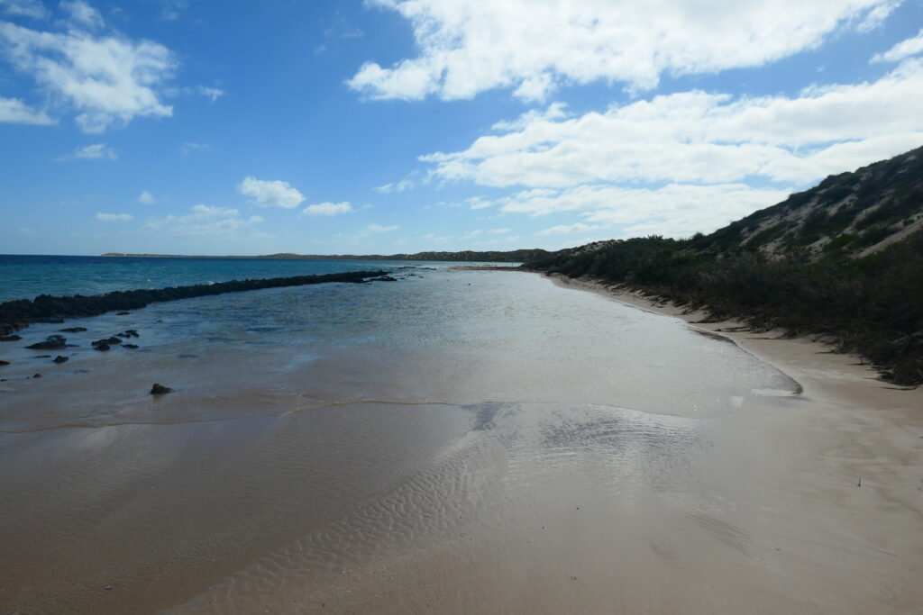 Spaziergang Skeleton Bay Coral Bay