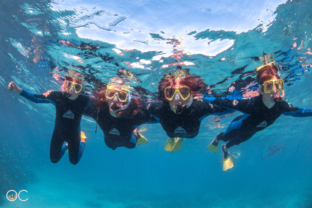 Schnorchelausflug Ningaloo Reef Gruppenfoto