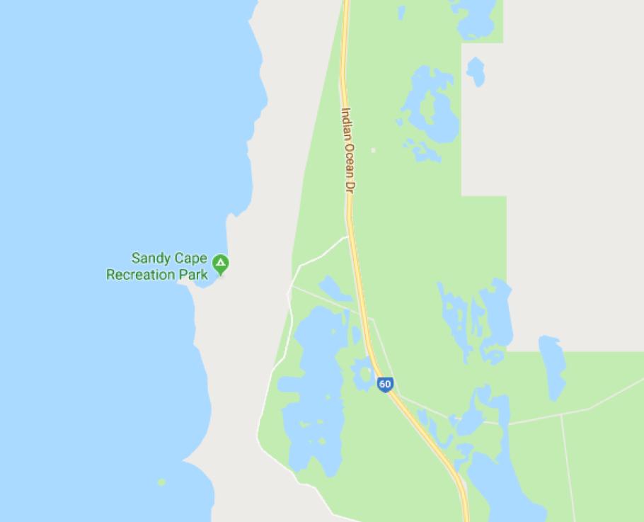 Landkarte von Cape Sandy