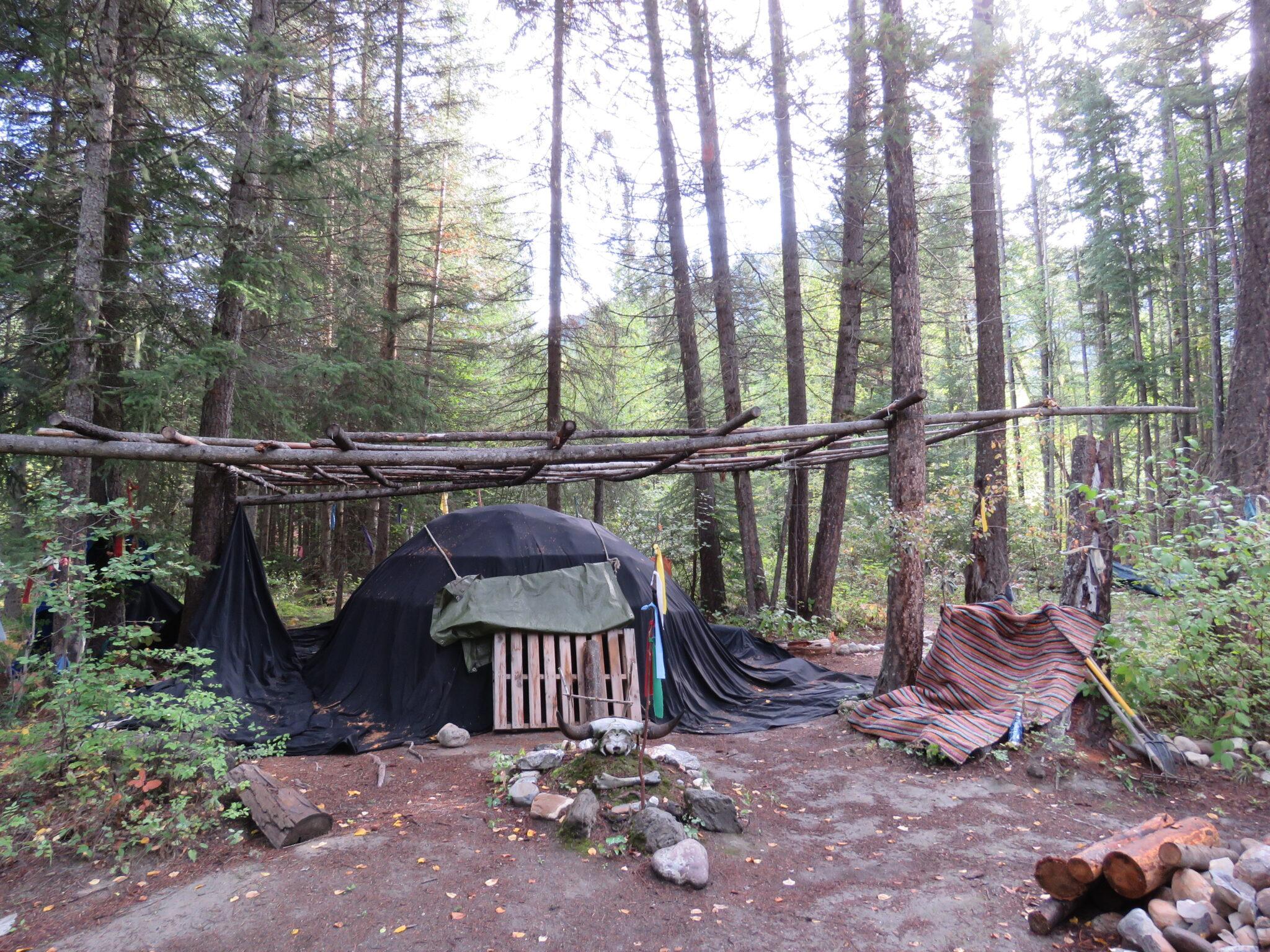 Indianische Schwitzhütte in Canada