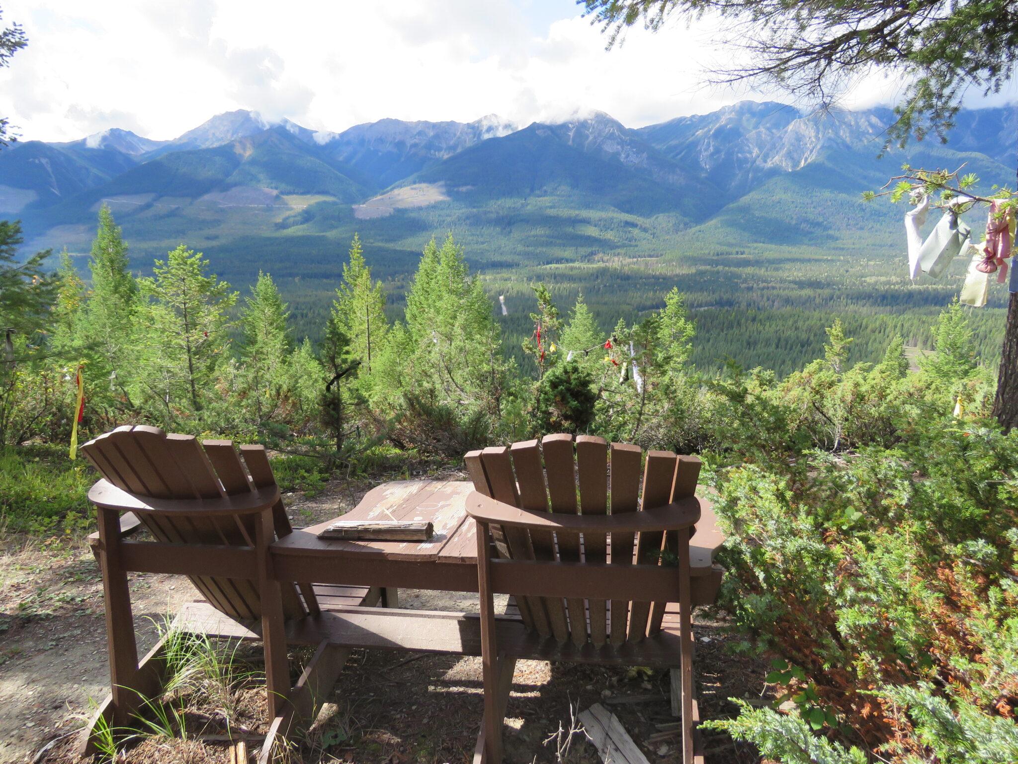 Blick vom Lookout ins Tal und auf die Rocky Moutains, Kootenay NP, Kanada
