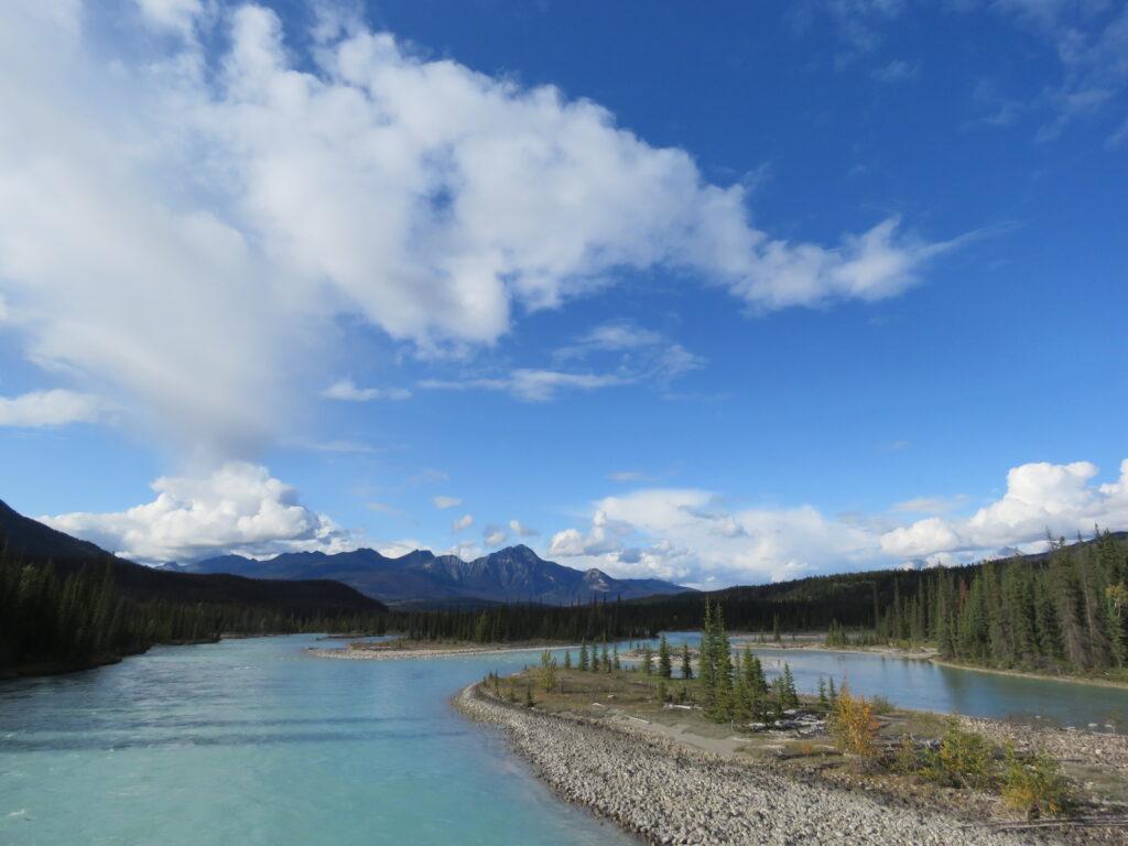 der Athabaska River kurz vor Jasper