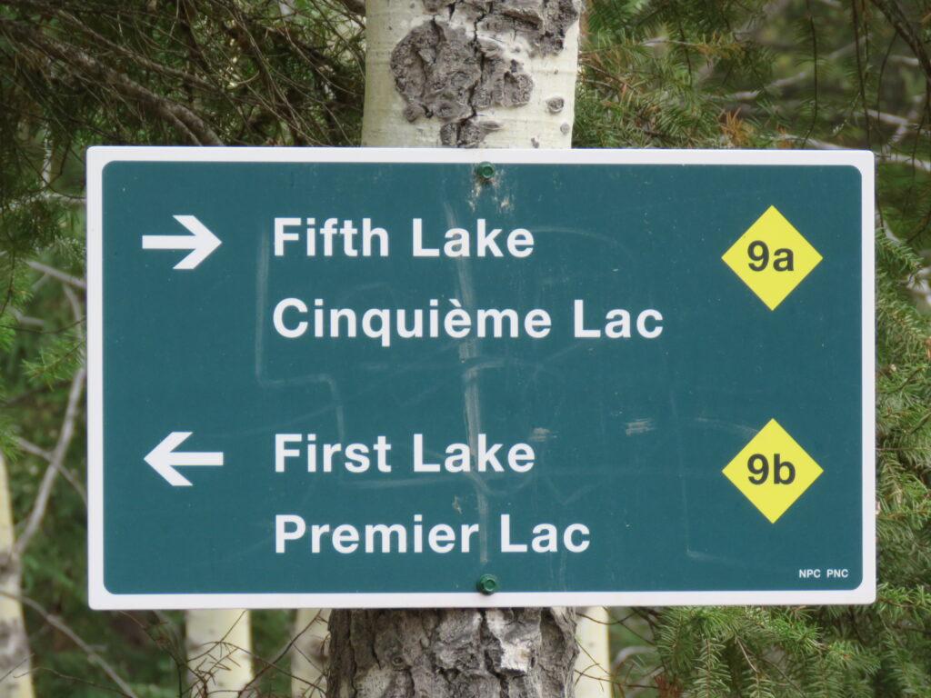 Jasper - Info-Wegweiser - Valley of the five Lakes